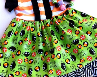 Halloween Delight Dixie dress Momi boutique toddler girl