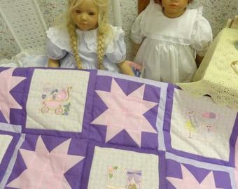Little Girls Crib Quilt