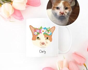 Custom Cat Mug, Custom Pet Mug, Custom Pet Drawing, Pet Art, Cat Mug, Personalized Cat Mug, Custom Cat Art, Custom Cat Illustration, Cat Mug
