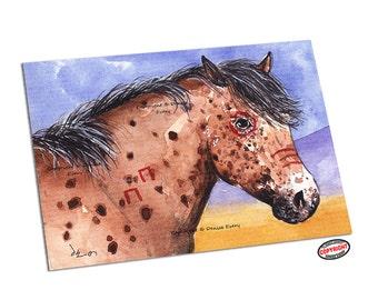 Appaloosa Horse Art Print Appaloosa Art Indian Horse Art Western Art Equine Art Horse Leopard Appaloosa Horse Lover Horse Gift Denise Every