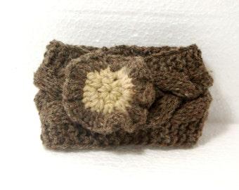 "Baby Knit Headband: ""BROWN BABY HEADBAND"" Knit Baby Headband Baby Knit Headband Baby Girl Headband Newborn Knit Headband Knit A98"