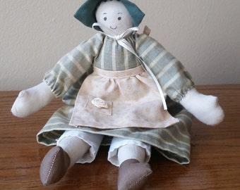 Handmade Girl Americana Folk Doll