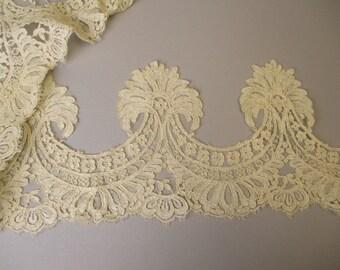 Antique Victorian Elaborate Lace Appliqué from dress