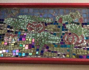 Lotus Pond Mosaic Tray