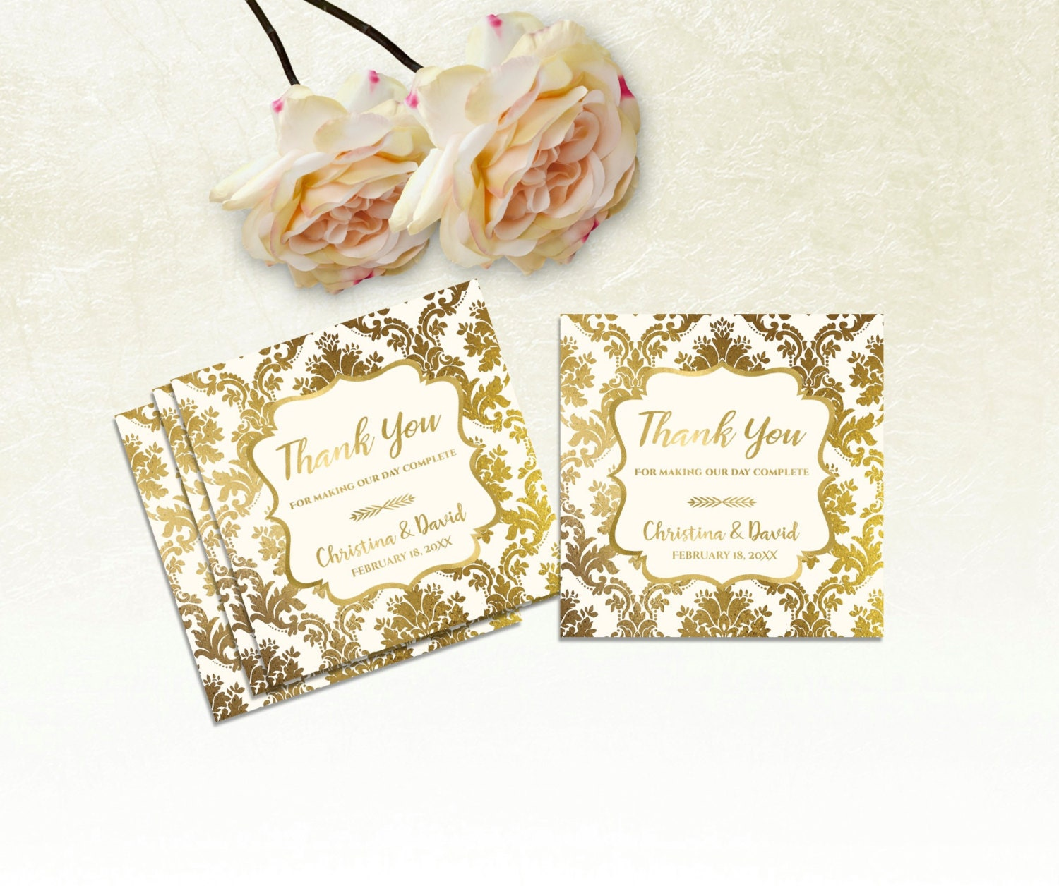 Printable Wedding Thank You Tags, Printable Wedding Favor Tags ...
