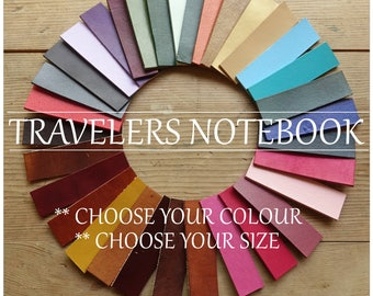 TRAVELERS NOTEBOOK, Midori, Leather Travelers Notebook, Journal Cover