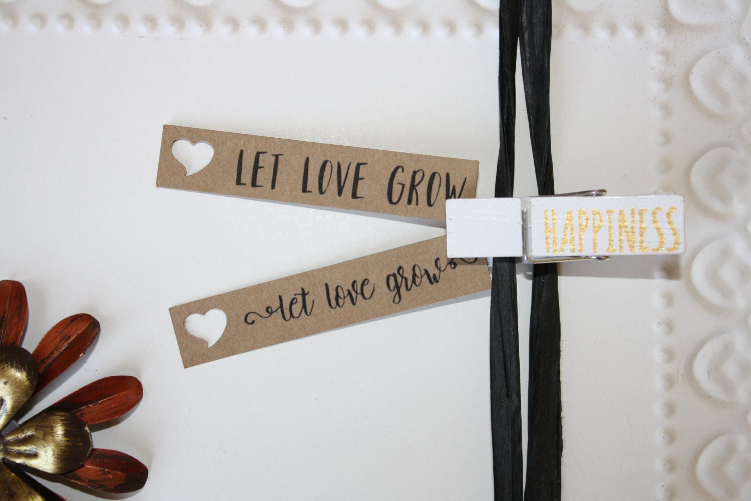 Kraft Let Love Grow tag // Engagement Bridal Shower Favor //