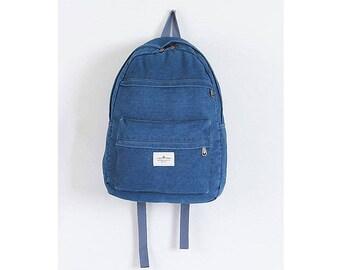 Womens Denim Backpack School Bag College Bag Daypack 216