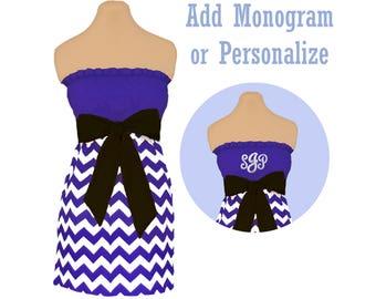 Purple + Black Chevron Dress