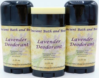 Lavender Deodorant, Aluminum Free Deodorant, Natural Deodorant, Artisan Deodorant, Chemical Free Deodorant, Vegetarian Deodorant