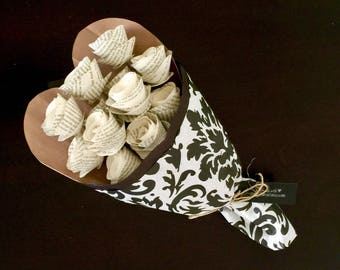 Paper Flowers, Wedding or First Anniversary Gift, Wedding Song Lyrics or First Dance Song Lyrics, Wedding Vows, Paper Roses