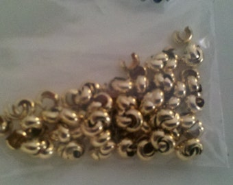 3mm 14k Gold Filled Crimp Covers (bag of 20) MADE IN USA