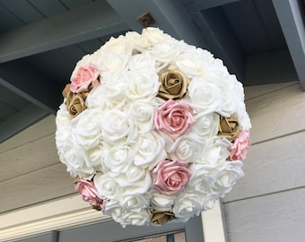 Wedding Pinata Guest Book Alternative Medium White Pink Gold