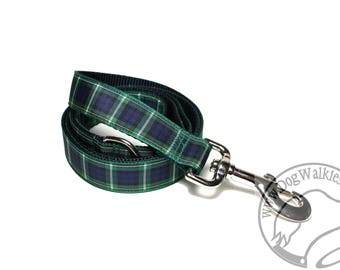 Campbell Clan Tartan Leash // Matching Tartan Dog Leash in all widths // Plaid Leashes // Tartan Lead