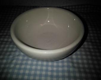 Vintage Victor Stoneware - Bowl - White Stoneware Bowl - Small Mixing Bowl - White Bowl - Stoneware Bowl