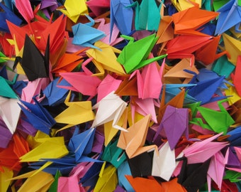 100 Multicolored Japanese Origami Crane Paper Crane Origami Cranes Paper Cranes