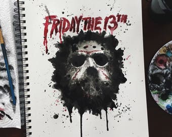 Friday the 13th Jason Voorhees Inspired Print