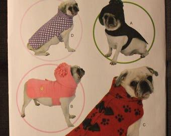 Butterick 6432   Pet Coats and Hooded Pet Coats