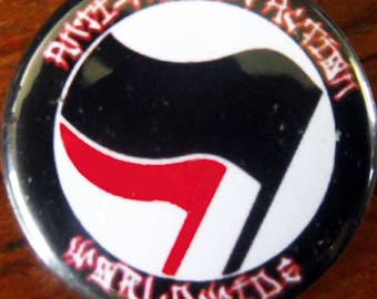 ANTI-FASCIST ACTION WoRLDWIDE  pinback buttons badges pack!