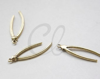 2pcs Oxidized Gold Tone Base Metal Charm - Branches 43x13mm (3109C-M-245)