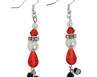 Pearl Santa Earrings