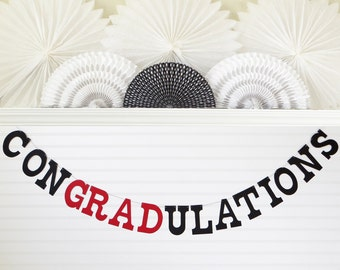 Graduation Banner - 5 Inch Letters - Congradulations Banner Congratulations Banner Graduation Party Decoration 2018 Graduation Party Banner