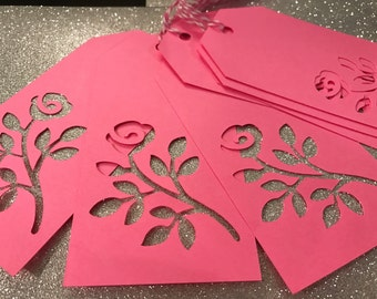 Floral Cutout Tags