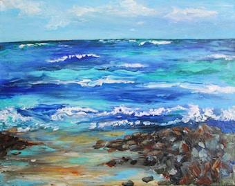 Rocky Coast- Acrylic Painting