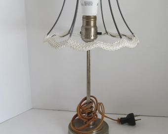 SteamPunk Wire Lamp Shade Art Nouveau Lamp Shade Base  Boudoir Barbola Lamp Shade Romantic Industrial Decor