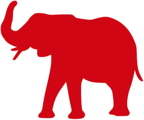 Elephant SVG Cut File Roll Tide Alabama