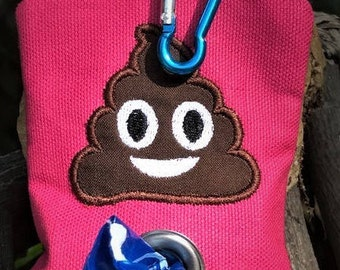 Dog poop bag dispenser-poop emoji-poop bag holder-dog gift-stocking stuffer-dog lover gift-funny dog gift-dog mom gift