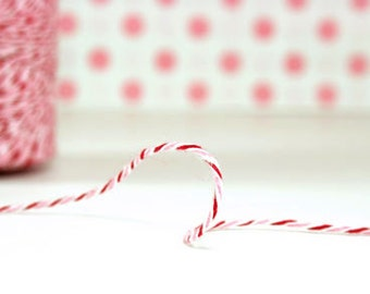 Red and Pink Twine - Pink Gift Wrap - Pink Cord - Red Gift Wrap - Red Cord, 240 yards Spool