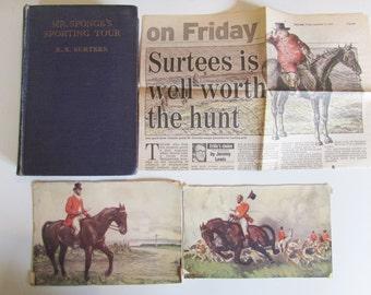 Vintage Old Book -  R S Surtees - Mr SPONGE'S SPORTING TOUR - Illustrated by John Leech  /MEMsArtShop