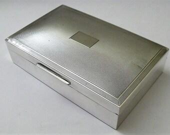 Vintage Sterling Silver Cedar Wood Cigarette Box With Coronation Hallmark 1953 (8673)