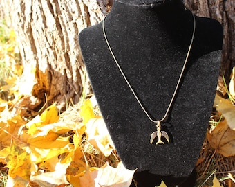 Golden Swallow Charm Necklace