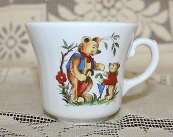 Bears Mug Antique or Vintage Russian Cup