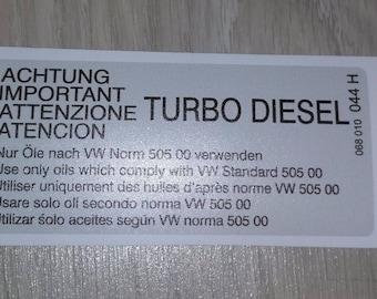 VW sticker 068010044H VAG Part