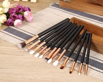 12 Pcs Cosmetic Make Up Brushes