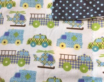 Transportation Flannel Baby Blanket