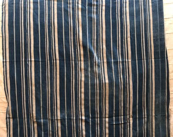 Stripe Indigo Mudcloth 100% cotton