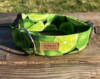 Cool Lime Dog Collar, Citrus, Green