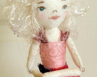 Small Soft Sculpture Felt Ballerina Doll
