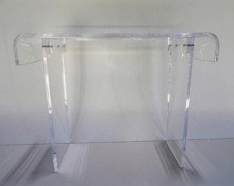 """New Acrylic-Lucite Console -Sofa- Desk - Table    3/4"""" thick Plexiglas"""