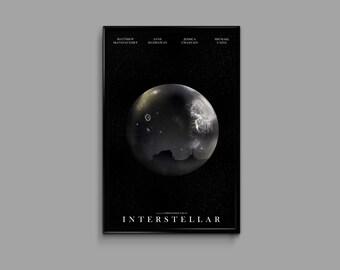 Interstellar 11 x 17 Minimalist Movie Poster