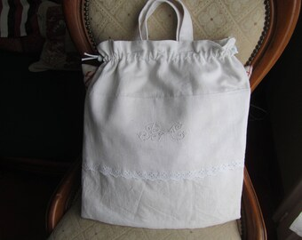 Large bag (monogramming and embroidery)