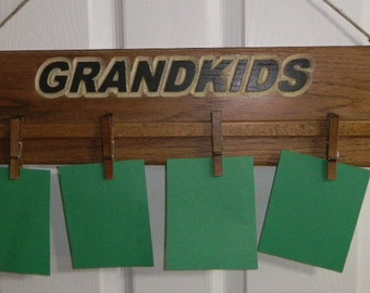 Picture Frame Wood Carved, Wall Plaques, Grandkid Pictures, Removable, Adjustable Clips, Custom Designed, Custom Colored, Furniture Finish,