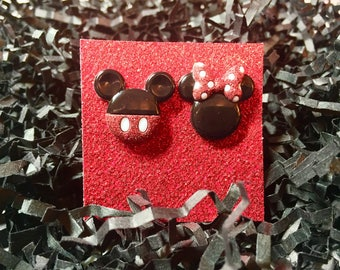 Disney earrings, Mickey Mouse earrings, Minnie Mouse earrings, Walt Disney World earrings, Fish Extenders, Disney Cruise
