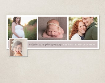 Facebook timeline cover template photo collage photos digital PSD FC045