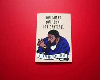 DJ Khaled card | I Appreciate that | urban cards