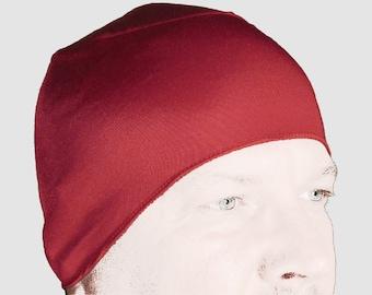 Red WickIt Cooling Motorcycle Helmet Liner. Helps Stop Helmet Hair!